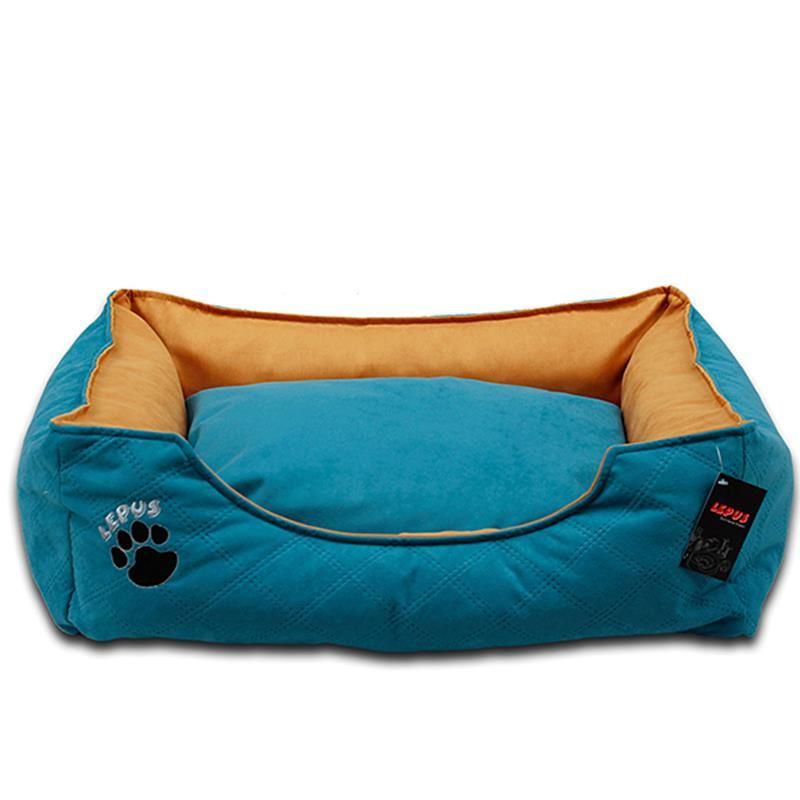 Lepus Soft Plus Köpek Yatağı Mavi XLarge