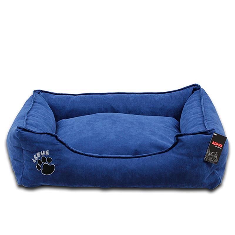 Lepus Soft Fermuarlı Köpek Yatağı Mavi XLarge