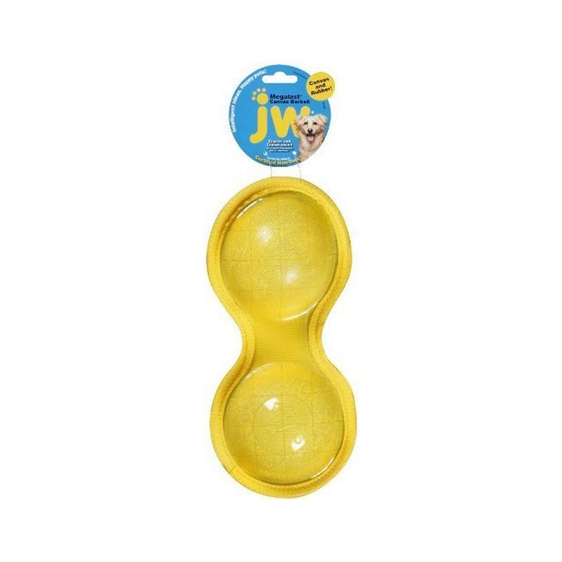 Jw Cansvasgel Barbell Plastik Top Köpek Oyuncağı Small