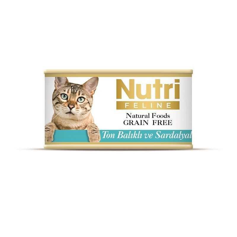 Nutri Feline Tahılsız Ton Balık Sardalyalı Kedi Konservesi 85 Gr