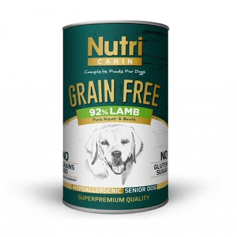 Nutri Canin Tahılsız Kuzulu Yaşlı Köpek Konservesi 400 Gr