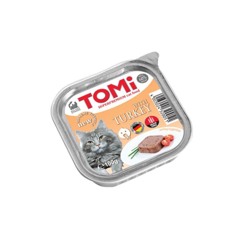 Tomi Hindili Pate Kedi Yaş Maması 100 Gr