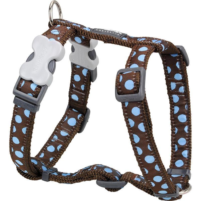 Reddingo Kahverengin Üzeri Mavi Benekli Köpek Göğüs Tasması 15 Mm