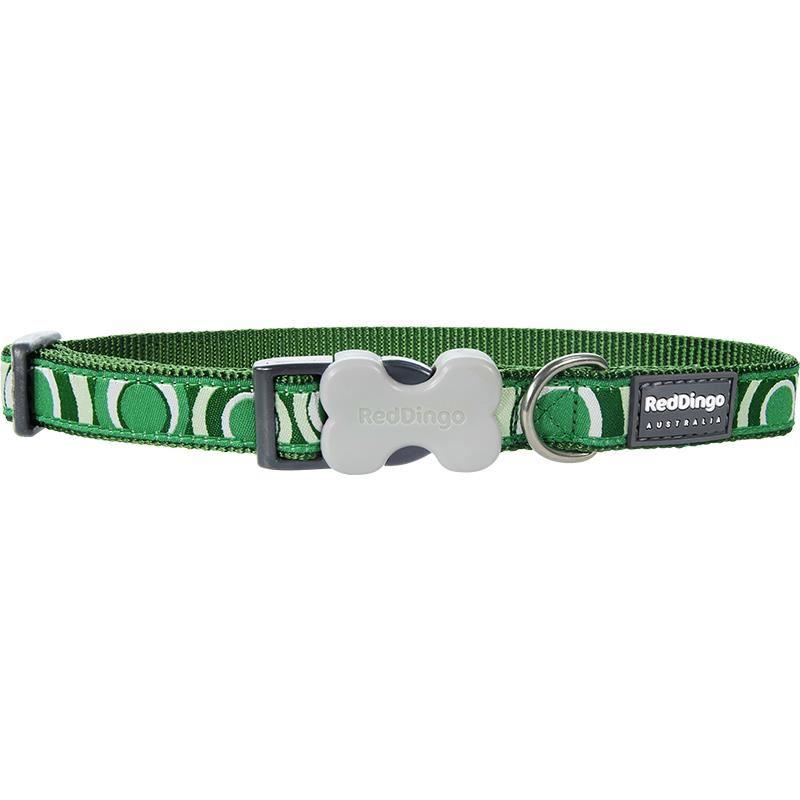 Reddingo Circadelic Desenli Yeşil Köpek Boyun Tasması 15 Mm