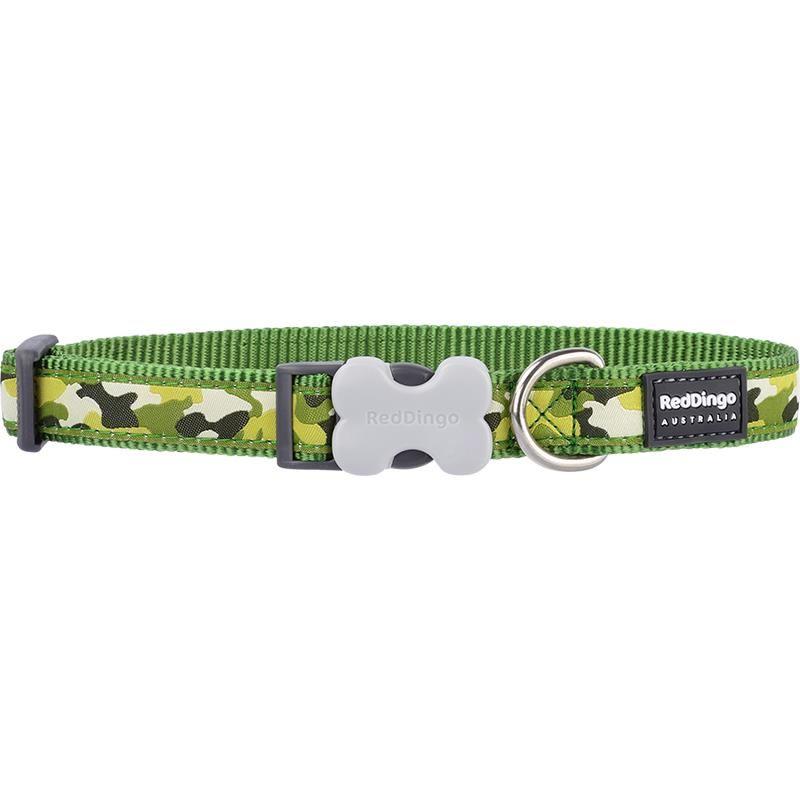 Reddingo Kamuflaj Desenli Yeşil Köpek Boyun Tasması 12 Mm