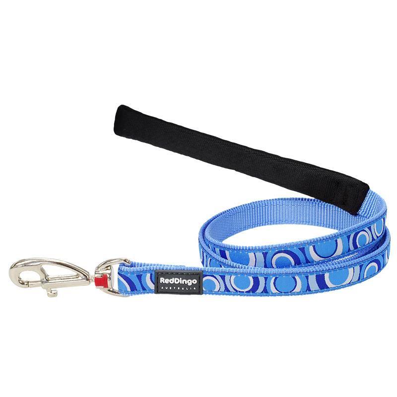 Reddingo Circadelic Desenli Mavi Uzatma Köpek Tasması 25 Mm