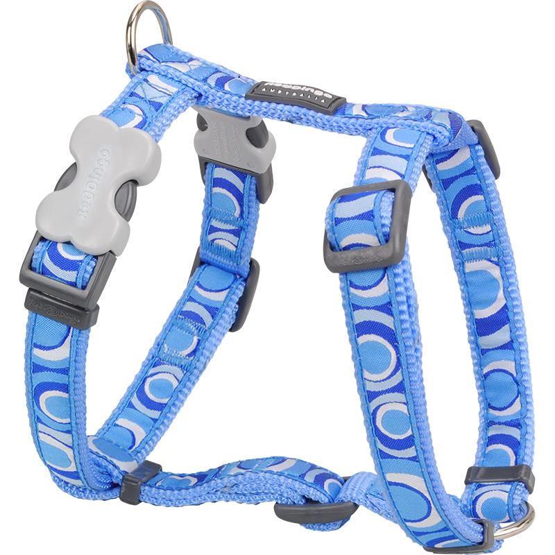 Reddingo Circadelic Desenli Mavi Yıldızlı Köpek Göğüs Tasması 25 Mm