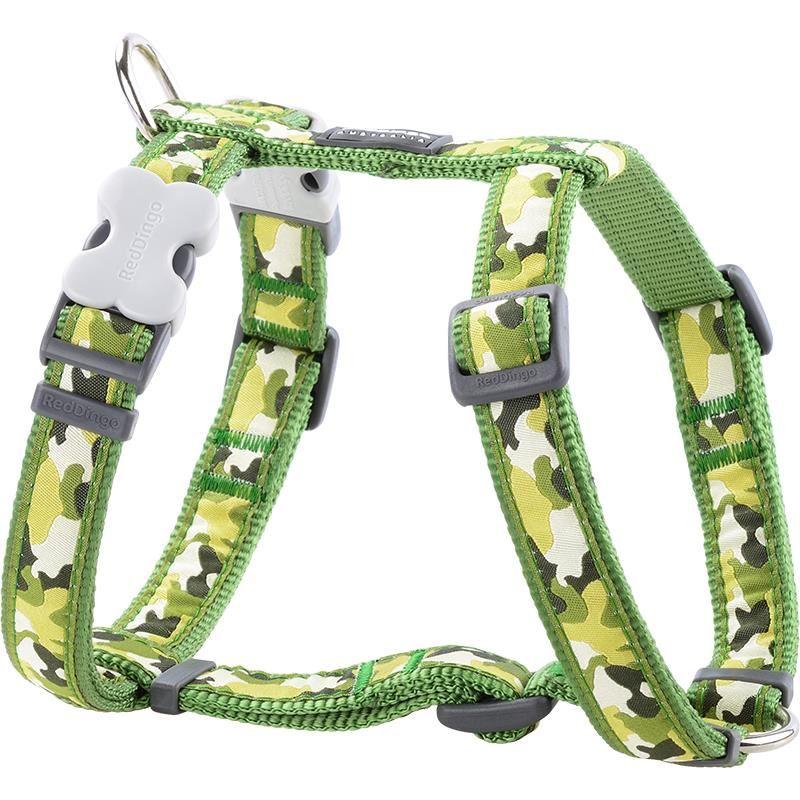 Reddingo Kamuflaj Desenli Yeşil Köpek Göğüs Tasması 15 Mm