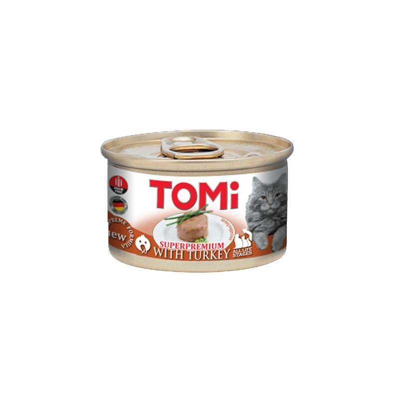 Tomi Superpremium Hindi Etli Tahılsız Kedi Konservesi 85 Gr