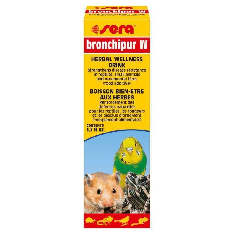 Sera Bronchipur W Kuş, Kemirgen ve Sürüngen Sıvı Sağlık Takviyesi 50 Ml