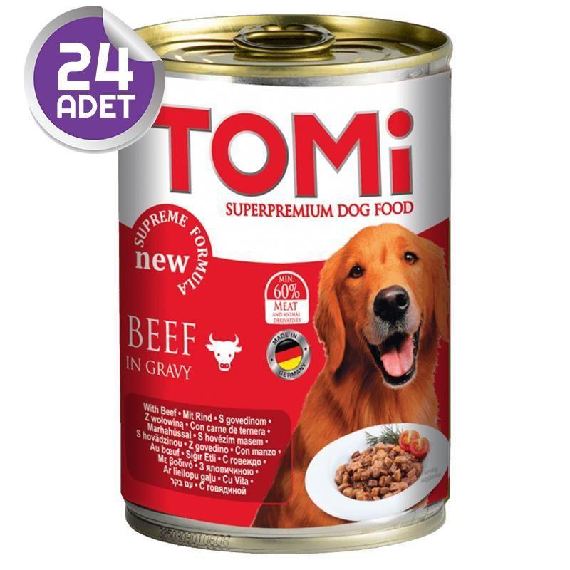 Tomi Sığır Etli Köpek Konservesi 400 Gr 24 ADET