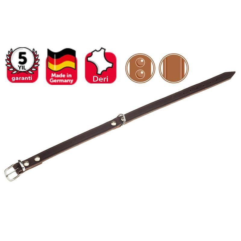 Karlie Köpekler İçin Deri Boyun Tasması 57 Cm Kahverengi