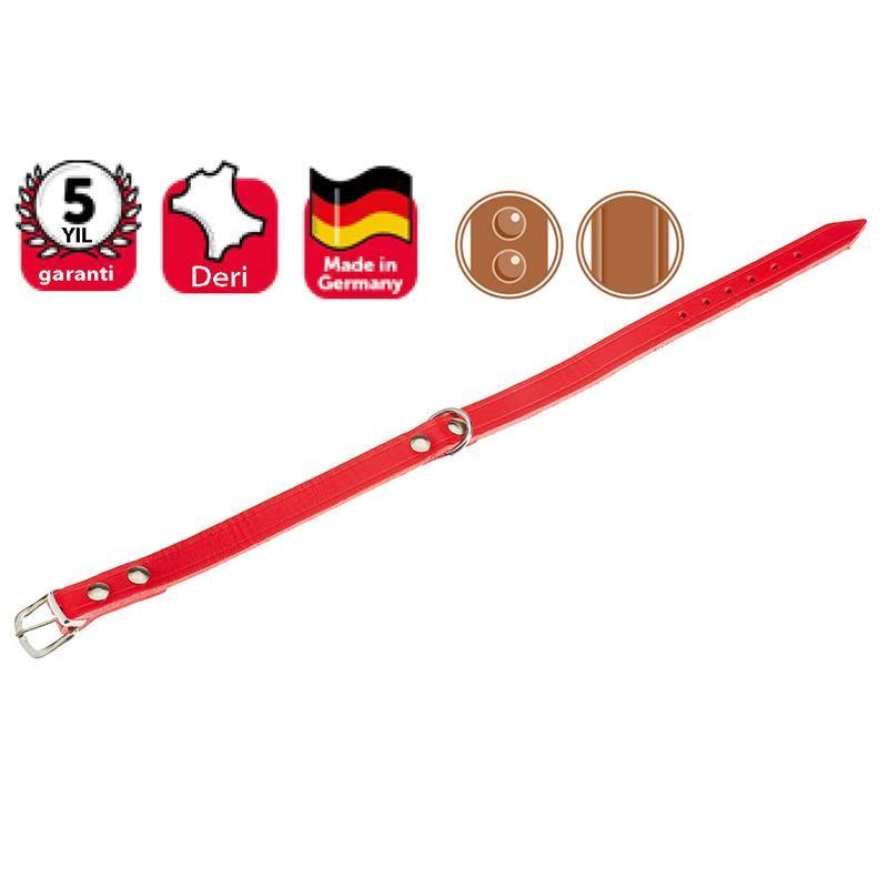 Karlie Köpekler İçin Deri Boyun Tasması 27 Cm Kırmızı