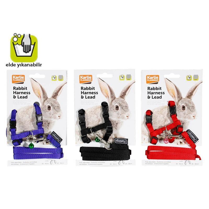 Karlie Tavşanlar İçin  Tasma ve Uzatma Seti  20-30 Cm