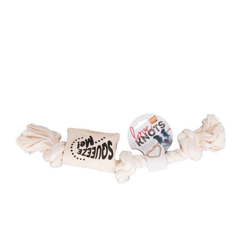 Karlie Köpekler İçin Öten Stres İpi 48 Cm Beyaz