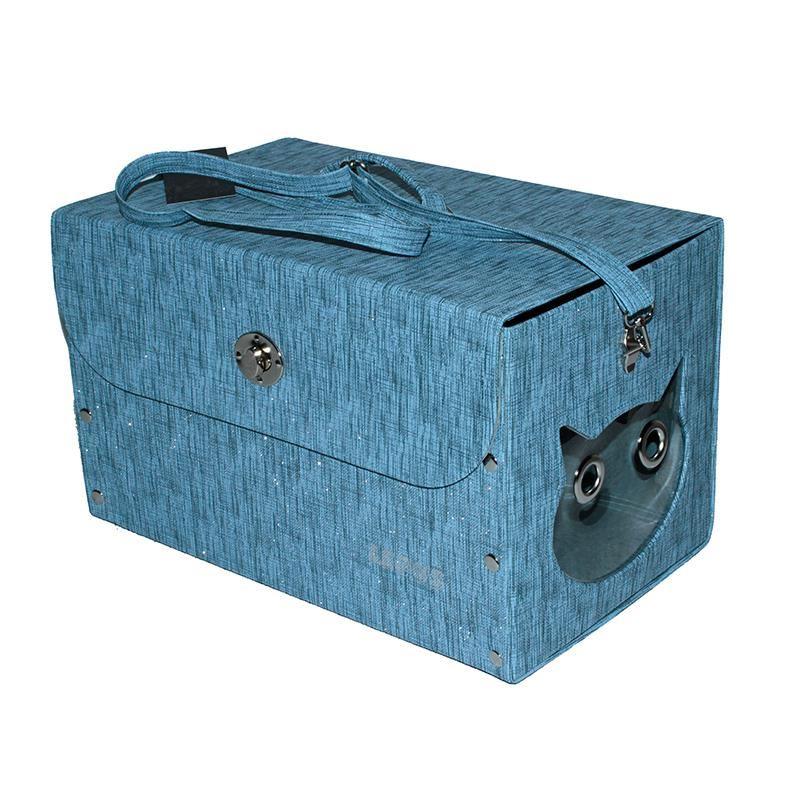 Lepus Style Bag Kediler İçin Seyahat Çantası Mavi