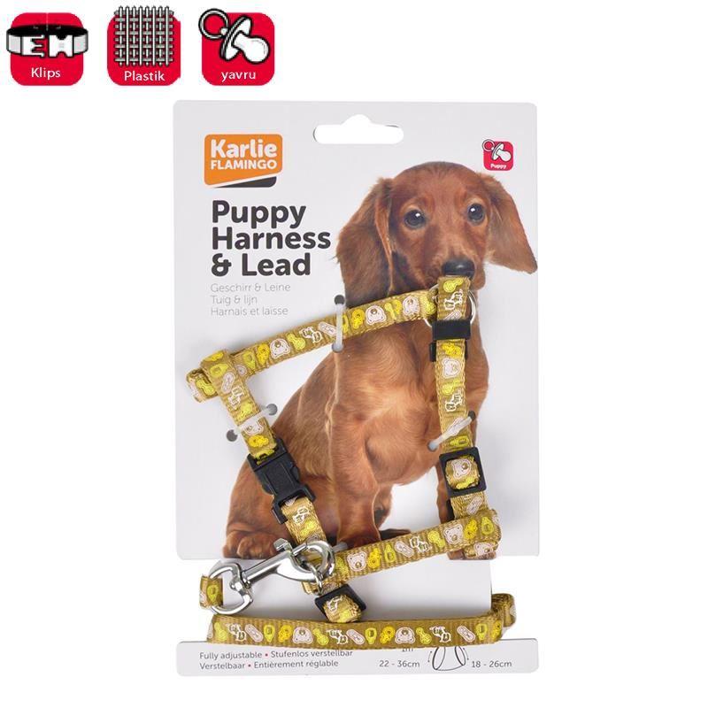 Karlie Yavru Köpek Kahverengi GöğüsTasması +Uzatma 25-35 Cm