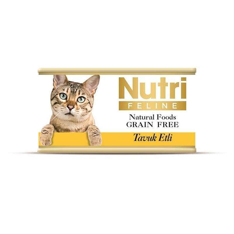 Nutri Feline Tavuk Etli Tahılsız Yetişkin Kedi Konservesi 85 Gr