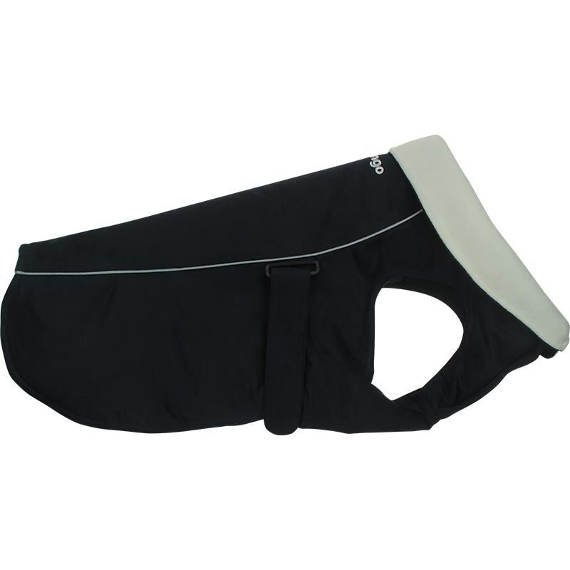 Reddingo Siyah Nubuk Mont Köpek Elbisesi 65 Cm
