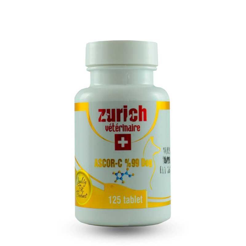 Zurich Köpekler İçin C Vitamini Bağışıklık Desteği Tablet 125 Adet