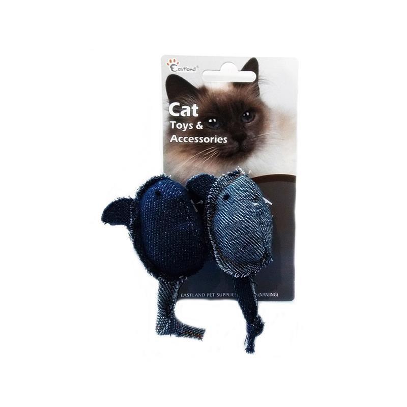 Eastland Kedi Otlu Peluş Fare 2 Li 10,5 Cm
