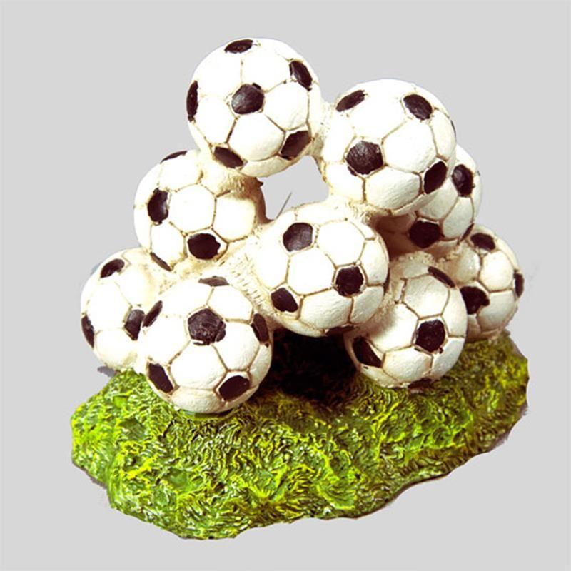 Chicos Akvaryum Dekoru Futbol Topları 13x8,5x11,5 Cm