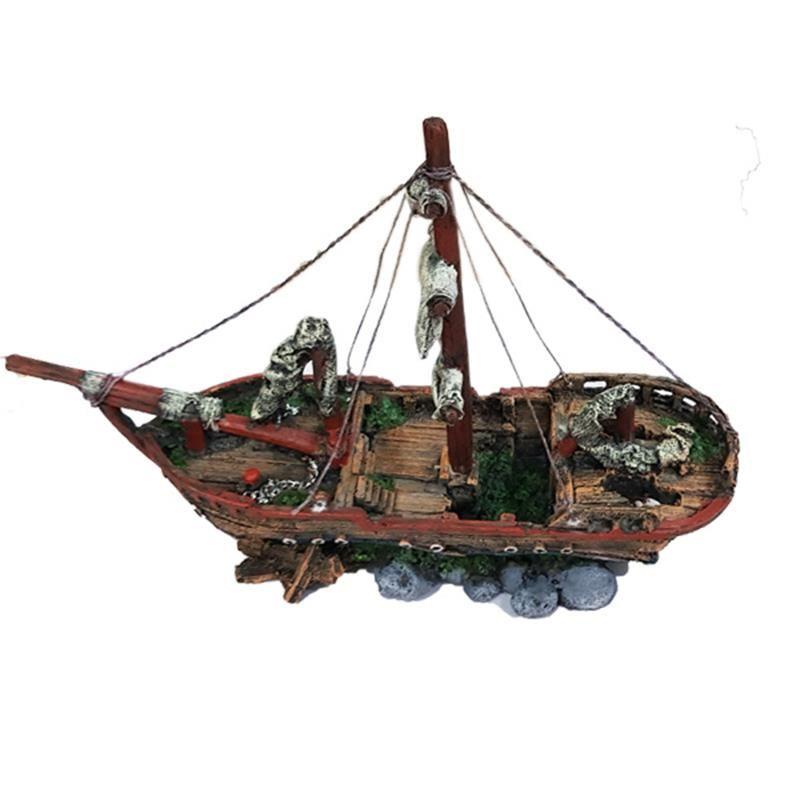 Chicos Akvaryum Dekoru Batık Gemi 39,5x14x27 Cm