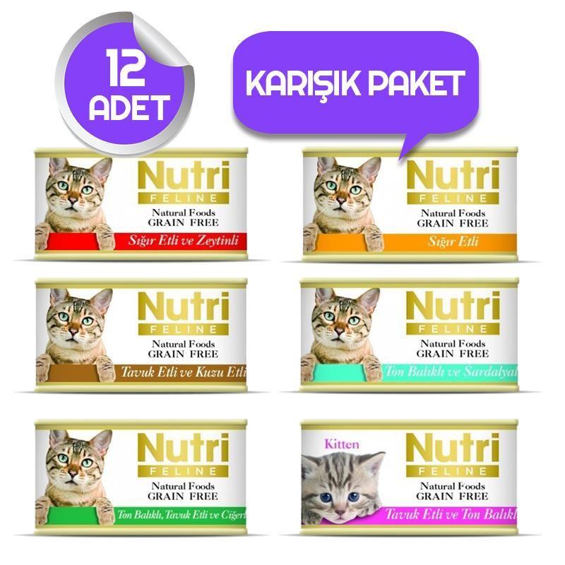 Nutri Feline Tahılsız Kedi Maması 12 'li Özel Paket