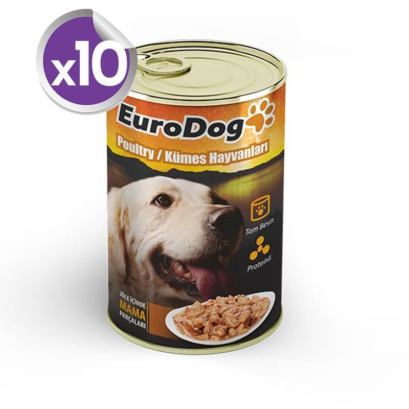 EuroDog Köpek Konservesi Kümes Hayvanları 415 Gr X 10