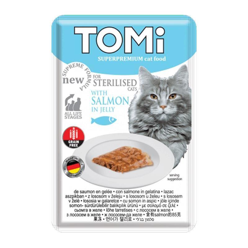 Tomi Sterilised Somonlu Kısır Pouch Kedi Konservesi 85 Gr