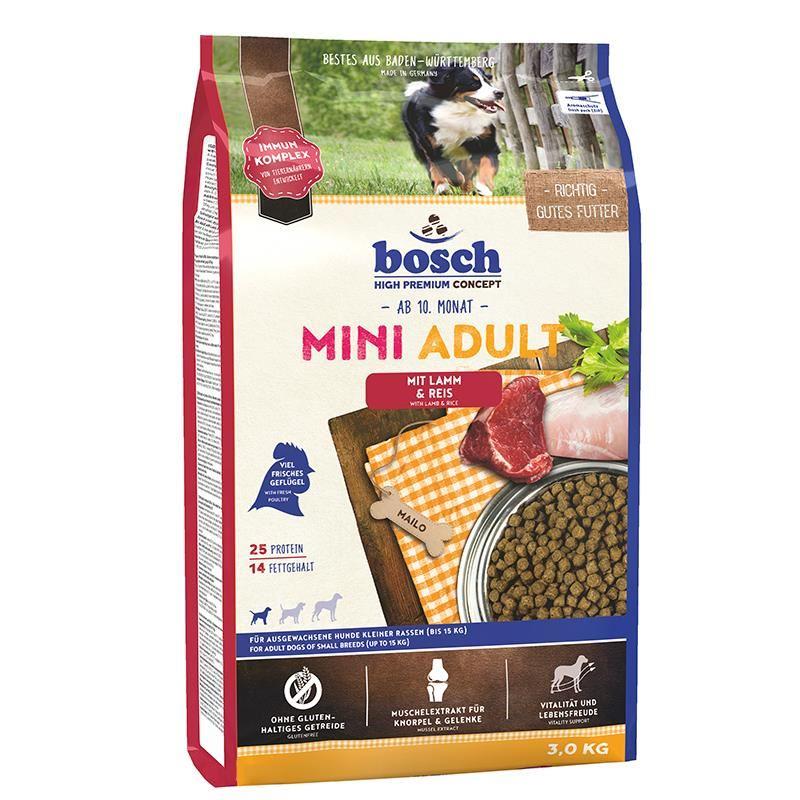 Bosch Mini Adult Lamb Kuzu Etli Küçük Irk Tahılsız Köpek Maması 3 Kg