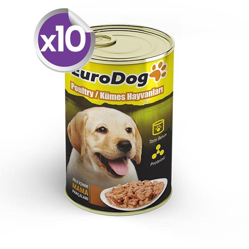 Eurodog Yavru Köpek Konservesi Tavuklu 415 Gr X 10