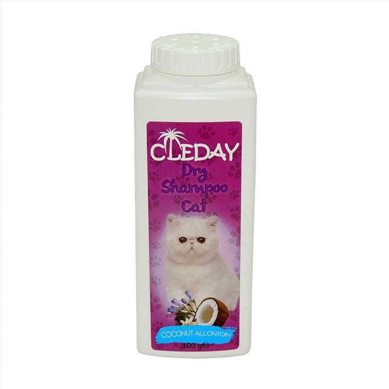 Cleday Dry Shampoo Hindistan Cevizli Toz Kedi Şampuanı 100 Gr