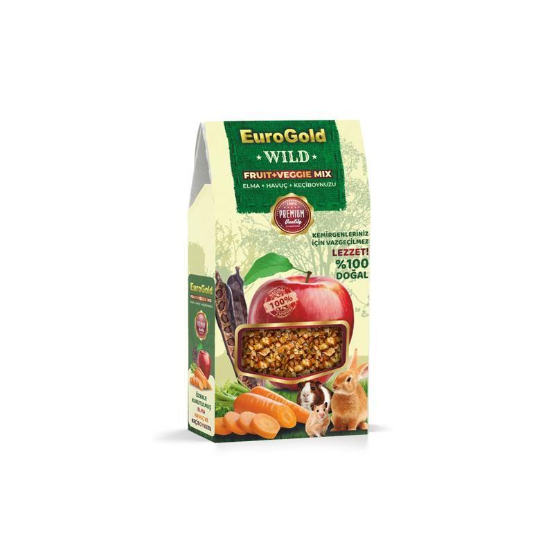 Eurogold Wild Elma Havuç Keçiboynuz Doğal Kemirgen Yemi Katkısı 120 Gr