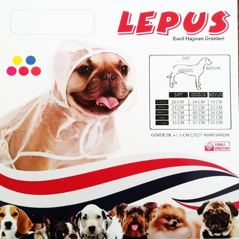 Lepus Küçük Irk Köpek Yağmurluğu XSmall Kırmızı