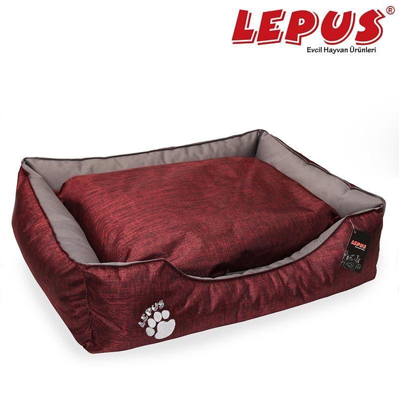 Lepus Dış Mekan Köpek Yatağı Medium Bordo