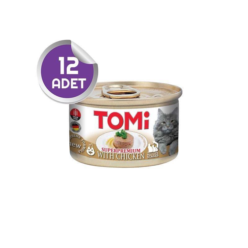Tomi Tavuklu Tahılsız Kedi Konservesi 85 Gr 12 ADET