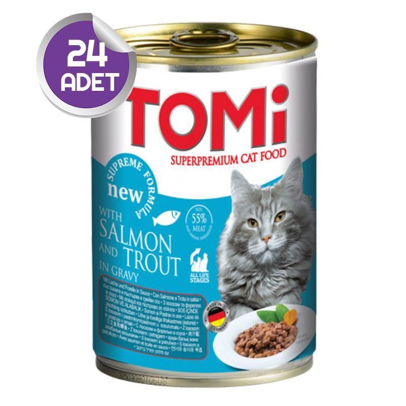 Tomi Alabalık ve Somonlu Kedi Konservesi 400 Gr 24 ADET