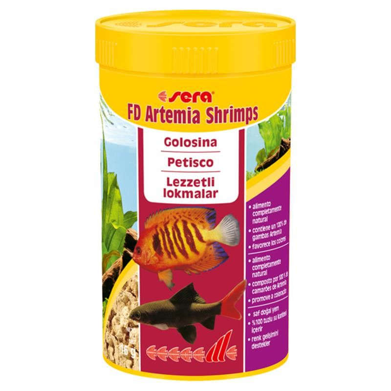 Sera FD Shrimps (Artemia) 16 Gr 250 Ml
