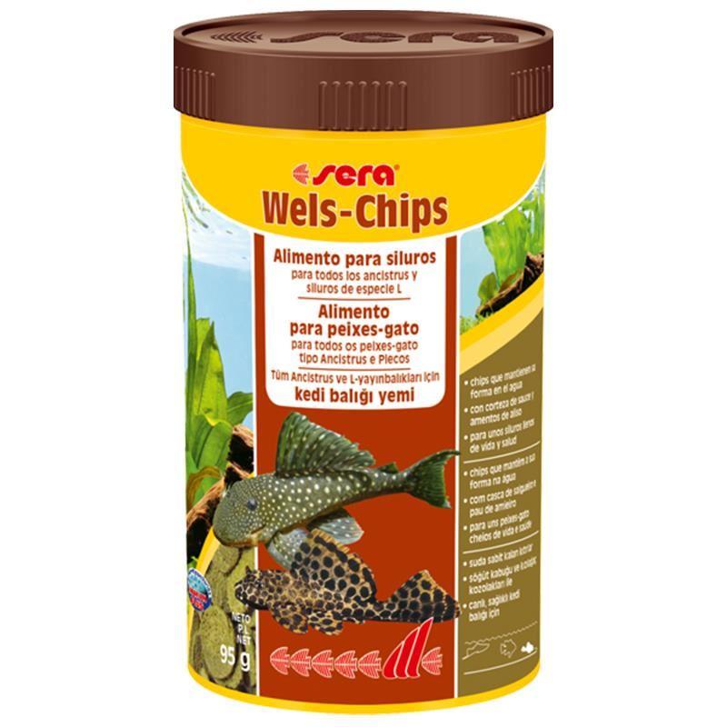 Sera Wels-Chips 95 Gr 250 Ml