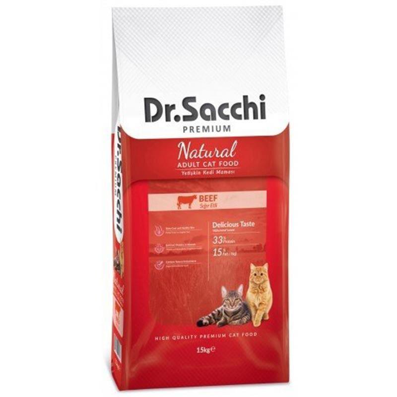 Dr Sacchi Premium Natural Biftekli Yetişkin Kedi Maması 15 Kg