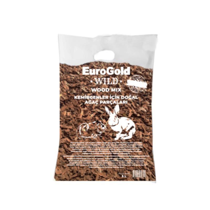 Euro Gold Kemirgenler İçin Doğal Ağaç Parçaları 5 Lt
