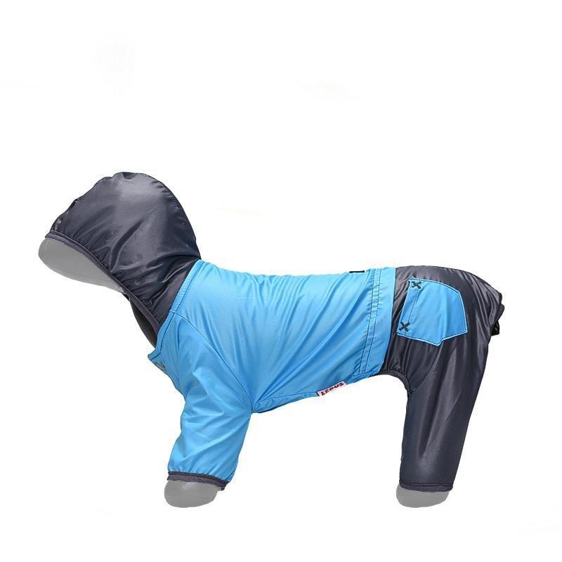 Lepus Küçük Irk Köpek Tulum Yağmurluk Turkuaz Medium