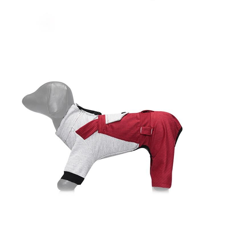 Lepus Küçük Irk Köpek Bahçıvan Tulum Elbise Bordo 2XLarge