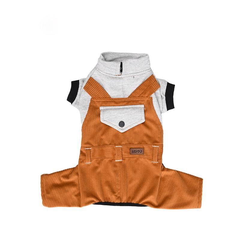 Lepus Küçük Irk Köpek Bahçıvan Tulum Elbise Hardal 2XLarge