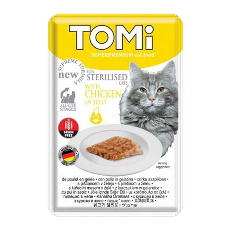 Tomi Sterilised Tavuklu Kısır Pouch Kedi Konservesi 85 Gr