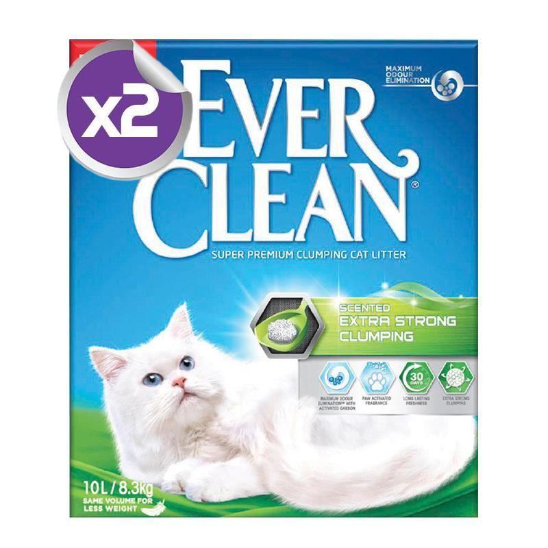Ever Clean Extra Strong Scented Kokulu Kedi Kumu 10 Lt X 2 Adet