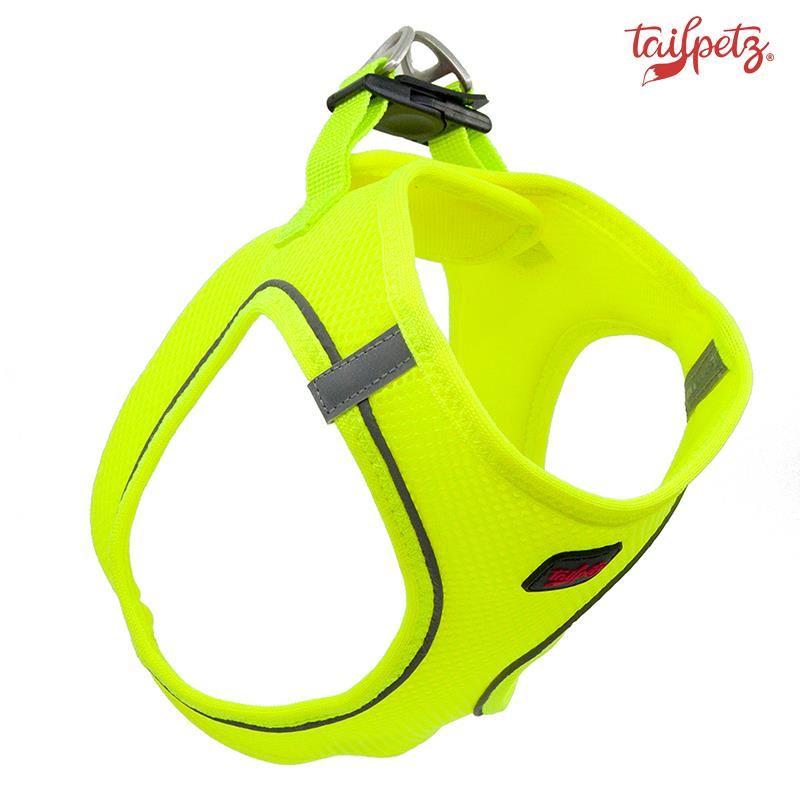 TailPetz Air Mesh Köpek Göğüs Tasması Neo Lime 2X Small