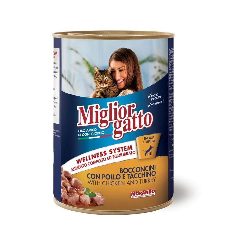 Miglior Gatto Tavuklu & Hindili Kedi Konservesi 405 Gr