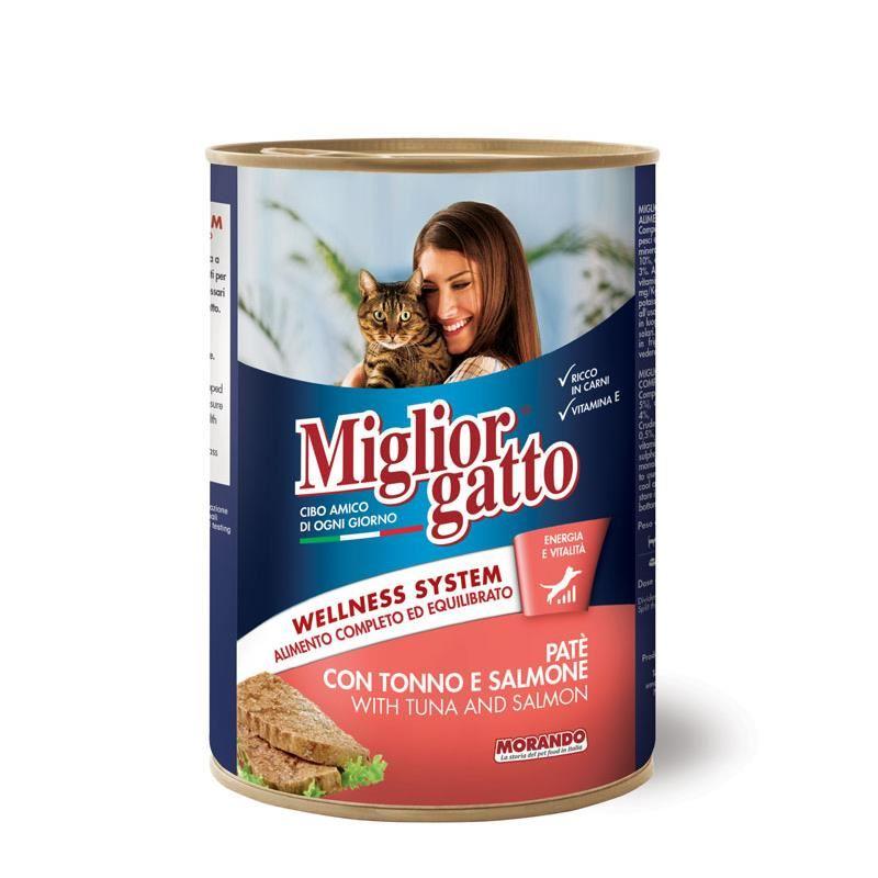 Miglior Gatto Somon & Ton Balıklı Püre Kedi Konservesi 405 Gr